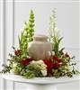 Red & White Garden Urn Wreath