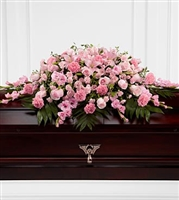 Sweet Pink Casket Spray