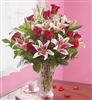 Dozen Red Roses & Lilies