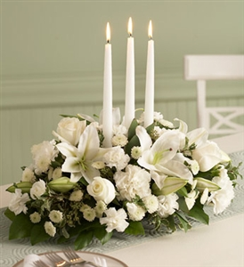 Winter-White Centerpiece