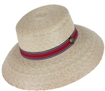 Women's Carmel Hat Cranberry Band w/SSB