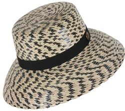 Women's Carmel Black Checkered Hat w/SSB