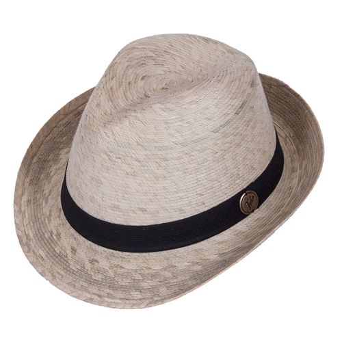 Straw Fedora With Black Band  7fd63014635