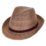 Unisex Fedora Hat -Multi Band Medium