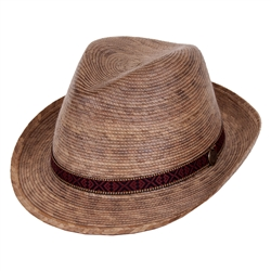 Women's Fedora Hat -Multi Band Medium