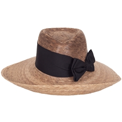 Women's Pilar Hat Black Bow