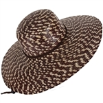 Women's Victoria Hat Brown Checkered w/strap