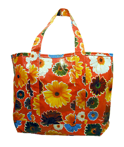 Oilcloth Tote Bag Red