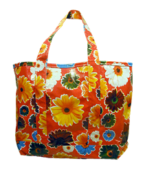 Oilcloth Tote Bag-Red