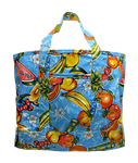 Oilcloth Tote Bag-Blue