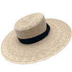Women's Boater Wide Brim Hat