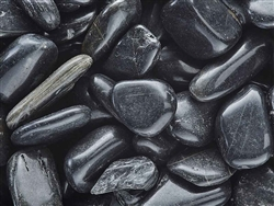 "Black Pebbles Polished 1/2""-1"""