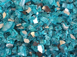 Tahitian Teal Reflective Tempered Glass 1/4""