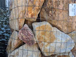 "Palm Springs Gold Landscape Boulders 10"" to 18"""