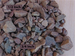 "Saddleback Brown Gravel 1/2"" Screened Per Yard - Gravel For Sale"