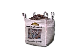 "Saddleback Brown Gravel 1"" Screened Per Yard - Landscape Stone"