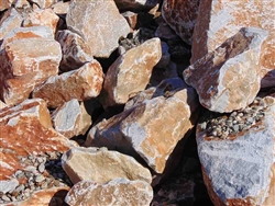 "Rusted Quartz Boulders 36"" to 48"""