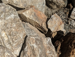 "Red Gold & Silver Boulders 36"" - 48"""