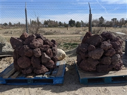 "Black n Burgundy Lava Boulders Rocks 24"" - 30"""