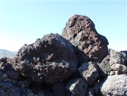 "Black n Burgundy Lava Boulders 30"" - 36"" Each"