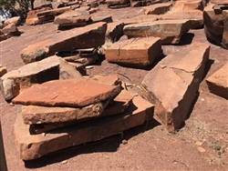 Sedona Red Moss Rock 2 x 2 Ft
