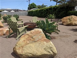 "Golden Green Granite Landscape Boulders 36"" - 48"""