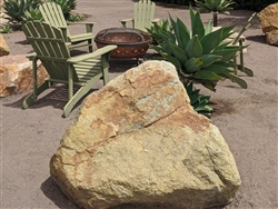 Golden Green Granite Large Rock Boulders