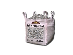 "Salt N Pepper Granite Rock Gravel 3/8"" Per Yard - Pea Gravel"