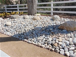 "Sierra Granite River Cobble and Pebbles 4""- 8"""