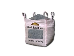 "Black Basalt D.G. Fines 1/4"" Minus - Rock Quarry"