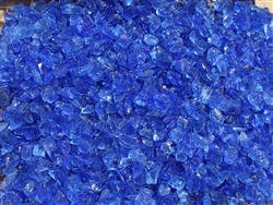 "Ocean Blue Fire Glass 3/4"" - 1-1/2"""