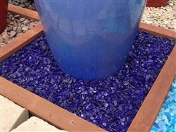 "Cobalt Blue Fire Glass 1/2"" - 3/4"""