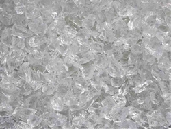 "Ice Clear Fire Glass 1/2"" - 3/4"""