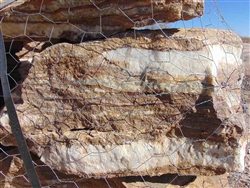 "Onyx Brown Wall Rock 30"" - 36"""