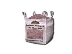 "Apache Pink Stabilized D. G. 3/8"" Minus - installing decomposed granite with stabilizer"