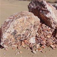"Jesse Red Boulders 18"" to 24"" Per Ton"