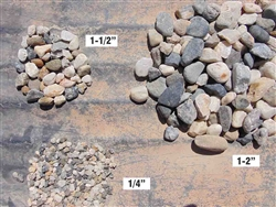 Yuba Black & White Quartz Gravel 1-1/2""