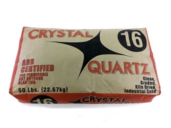 #16 Crystal Quartz Sand 100 Lb Bag
