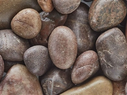 "Polished Red Pebbles 1"" - 2"""