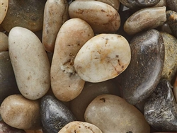 "Polished Mixed Colors Pebbles 1/2"" - 1"""