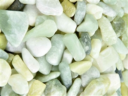 "Polished Jade Green Pebbles 1"" - 2"""