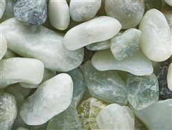"Polished Jade Green Pebbles 1/2"" - 1"""