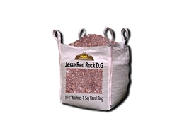 "Jesse Red Rock D. G. 1/4"" Minus Per Ton"