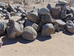 "Black Granite Boulders Rock near me 30"" - 36"""