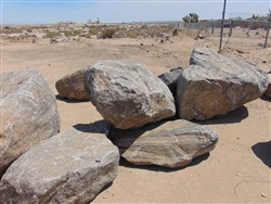 "Black Granite Large Rock Boulders 36"" - 48"""