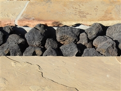 "Black Cinders Lava Rock 3"" - 9"" - Gravel Path"