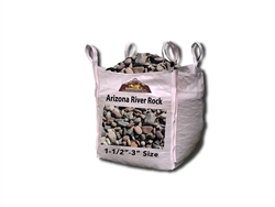 "Arizona River Rock 1-1/2"" to 3"" Per Yard - Landscape Rock Near Me"