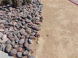 "Arizona River Rock Cobbles 3"" to 6"" Per Yard - Gravel Near Me"