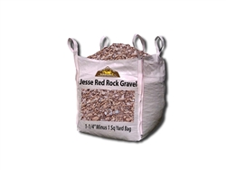 "Jesse Red Rock Gravel 1-1/4"" Minus Per Ton"