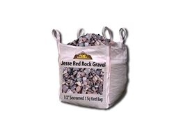 "Jesse Red Rock Gravel 1/2"" Screened Per Ton"